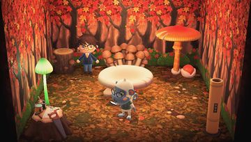 Interior of Monty's house in Animal Crossing: New Horizons
