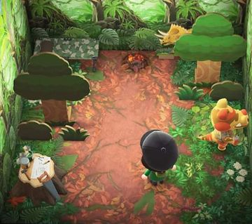 Interior of Sly's house in Animal Crossing: New Horizons
