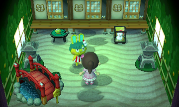 Interior of Toby's house in Animal Crossing: New Leaf