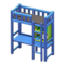 Loft Bed with Desk (Blue - Black) NH Icon.png