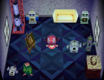 Interior of Egbert's house in Animal Crossing