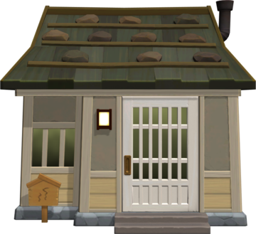 Exterior of Tank's house in Animal Crossing: New Horizons