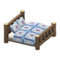 Log Bed (Dark Wood - Quilted) NH Icon.png