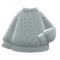 Aran-Knit Sweater (Gray) NH Icon.png