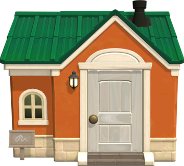 Exterior of Tangy's house in Animal Crossing: New Horizons