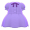Pintuck-Pleated Dress (Purple) NH Icon.png