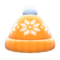 Snowy Knit Cap (Orange) NH Icon.png