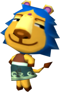 Aziz, an Animal Crossing villager.