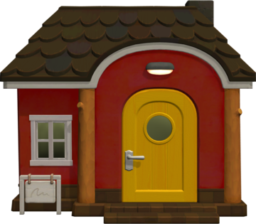 Exterior of Drift's house in Animal Crossing: New Horizons