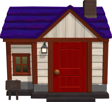 Exterior of Robin's house in Animal Crossing: New Horizons