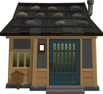 Exterior of Walt's house in Animal Crossing: New Horizons