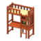 Loft Bed with Desk (Brown - Yellow) NH Icon.png