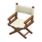 Director's Chair (Dark Brown - Natural White) NH Icon.png