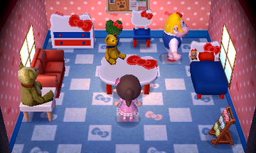 Interior of Rilla's house in Animal Crossing: New Leaf