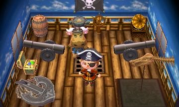 Interior of Vic's house in Animal Crossing: New Leaf