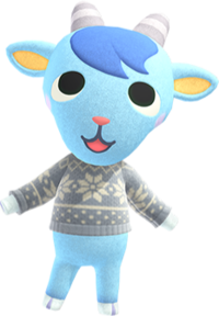 Sherb, an Animal Crossing villager.