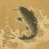 Hanging Scroll with the Fish pattern applied.
