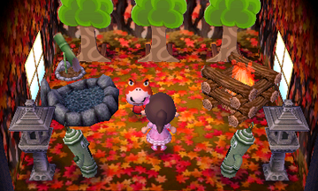 Interior of Croque's house in Animal Crossing: New Leaf