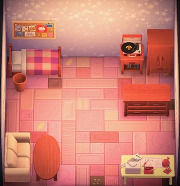 Interior of Paula's house in Animal Crossing: New Horizons