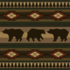 Log Garden Lounge with the Bears pattern applied.