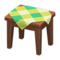 Wooden Mini Table (Dark Wood - Green) NH Icon.png