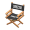 Director's Chair (Light Brown - Director Black) NH Icon.png