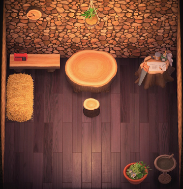 Interior of Jay's house in Animal Crossing: New Horizons