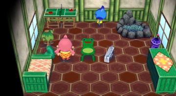 Interior of Jeremiah's house in Animal Crossing: City Folk