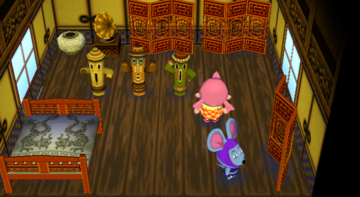 Interior of Rizzo's house in Animal Crossing: City Folk