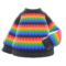 Rainbow Sweater (Black) NH Icon.png