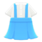 Skirt with Suspenders (Blue) NH Icon.png