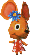Flossie, an Animal Crossing villager.