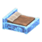 Frozen Bed (Ice Blue - Brown) NH Icon.png