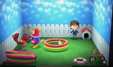 Interior of Benedict's house in Animal Crossing: New Horizons