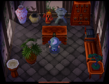 Interior of Chico's house in Animal Crossing