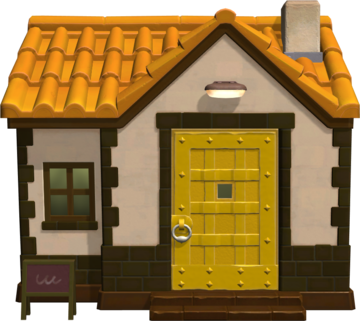 Exterior of Knox's house in Animal Crossing: New Horizons