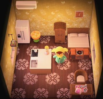 Interior of Eloise's house in Animal Crossing: New Horizons