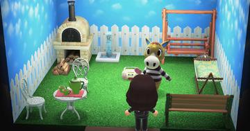 Interior of Winnie's house in Animal Crossing: New Horizons
