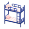Bunk Bed (Blue - Checkered) NH Icon.png