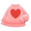 Heart Sweater (Pink) NH Icon.png