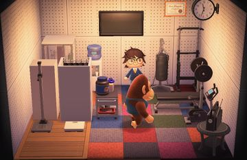 Interior of Louie's house in Animal Crossing: New Horizons