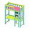 Loft Bed with Desk (Light Blue - Pink) NH Icon.png