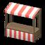 Stall (Dark Brown - Red Stripes)