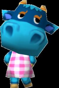 Bessie, an Animal Crossing villager.
