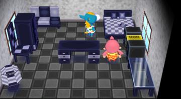 Interior of Ed's house in Animal Crossing: City Folk