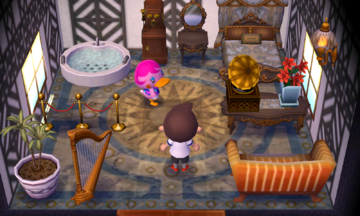 Interior of Miranda's house in Animal Crossing: New Leaf