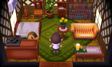 Interior of Molly's house in Animal Crossing: New Leaf