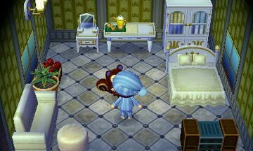 Interior of Pecan's house in Animal Crossing: New Leaf