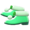 Pom-Pom Boots (Green) NH Icon.png