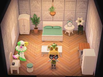 Interior of Celia's house in Animal Crossing: New Horizons